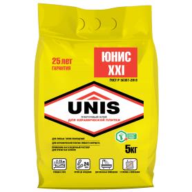 Клей для плитки Unis XXI, 5 кг