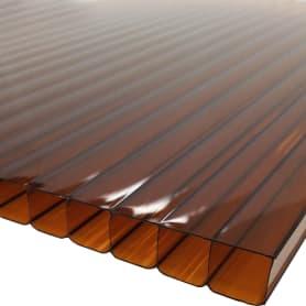 Поликарбонат сотовый 10 мм 2.1х3 м цвет терракотовый