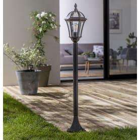 Столб уличный Jaipur Е27 100 Вт 110 см цвет черный