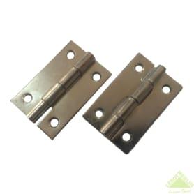 Петля мебельная карточная Левша, 50х30 мм, сталь, цвет никель, 2 шт.