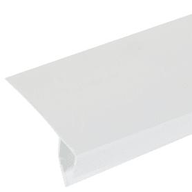 Профиль ПВХ оконный F-образный 3000 мм, цвет белый