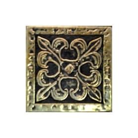 Декор Вензель-бронза 5х5 см цвет жёлтый