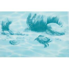 Декор «Лагуна Краб» 24.9х36.4 см цвет голубой