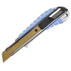 Нож 18 мм металлический корпус, лезвие с титановым покрытием