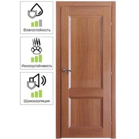Дверь межкомнатная Танганика глухая CPL 80х200 см (с замком)