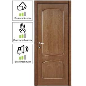 Дверь межкомнатная Helly глухая шпон натуральный цвет дуб тонированный 60x200 см