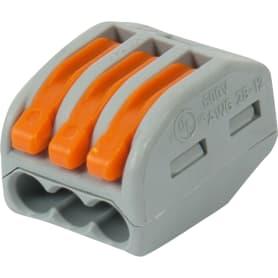Клемма Wago 3 разъема под провода 17х14.5х20х5 мм, полиамид, 5 шт.