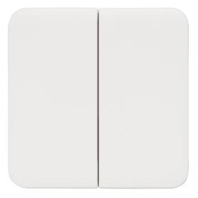 Накладка Lexman Cosy для выключателя/переключателя, 2 клавиши, цвет белый