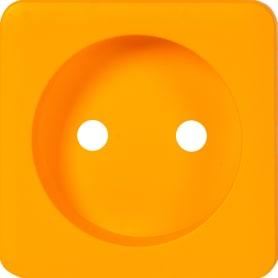 Накладка Lexman Cosy для розетки без заземления, цвет оранжевый