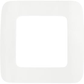 Рамка для розеток и выключателей Lexman Cosy 1 пост, цвет белый