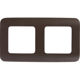 Рамка для розеток и выключателей Lexman Cosy 2 поста, цвет шоколад