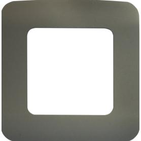 Рамка для розеток и выключателей Lexman Cosy 1 пост, цвет серый