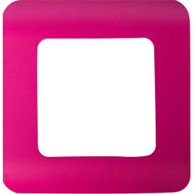 Рамка для розеток и выключателей Lexman Cosy 1 пост, цвет фуксия