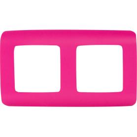 Рамка для розеток и выключателей Lexman Cosy 2 поста, цвет фуксия