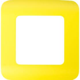Рамка для розеток и выключателей Lexman Cosy 1 пост, цвет лимон