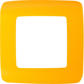 Рамка для розеток и выключателей Lexman Cosy 1 пост, цвет оранжевый