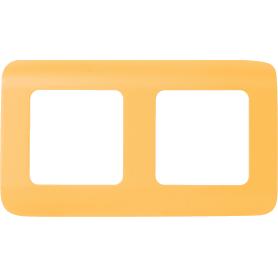 Рамка для розеток и выключателей Lexman Cosy 2 поста, цвет оранжевый