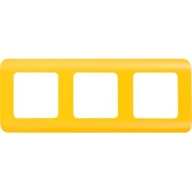 Рамка для розеток и выключателей Lexman Cosy 3 поста, цвет оранжевый