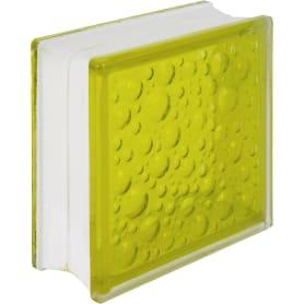 Стеклоблок Богема Савона цвет ярко-жёлтый