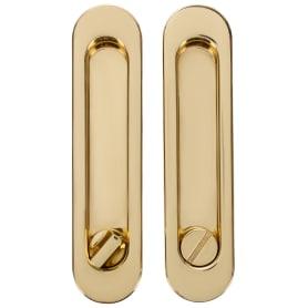 Ручка для раздвижных дверей с механизмом SH011-BK GP-2, цвет золото