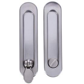 Ручка для раздвижных дверей с механизмом SH011-BK SN-3, цвет матовый никель