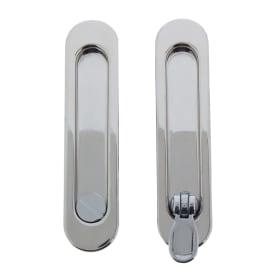 Ручка для раздвижных дверей с механизмом SH011-BK СP-8, цвет хром