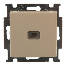 Выключатель ABB Basic55 1 клавиша с подсветкой цвет бежевый