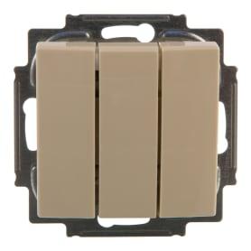 Выключатель Basic55 3 клавиши цвет бежевый