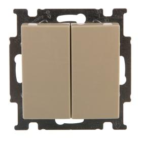 Выключатель ABB Basic55 2 клавиши цвет бежевый
