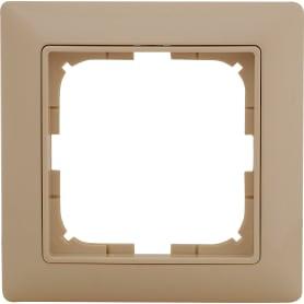 Рамка для розеток и выключателей Basic55 1 пост цвет бежевый