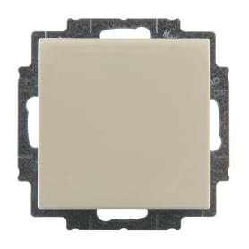 Розетка ABB Basic55 с заземлением крышка цвет бежевый