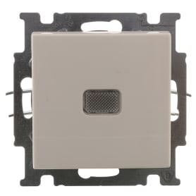 Выключатель ABB Basic55 1 клавиша с подсветкой цвет белый