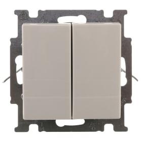 Выключатель ABB Basic55 2 клавиши цвет белый