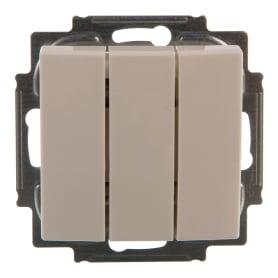 Выключатель встраиваемый ABB Basic 55 3 клавиши, цвет белый