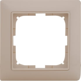 Рамка для розеток и выключателей Basic55 1 пост цвет белый
