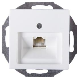 Телефонная розетка ABB Basic55 1 разъем цвет белый