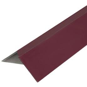 Планка ветровая для мягкой кровли, покрытие п/э цвет краcный