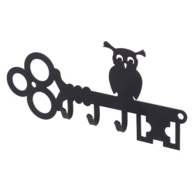 Ключница DuckandDog «Сова», 190х99х19 мм, сталь, цвет чёрный матовый