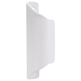Комплект ручек балконных Левша с защелкой, сталь, цвет белый