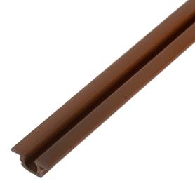 Профиль Elikor 103ШК для раздвижных дверей 2000 мм ПВХ цвет ирис