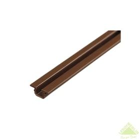 Профиль Elikor 103ШК для раздвижных дверей 2000 мм ПВХ цвет коричневый