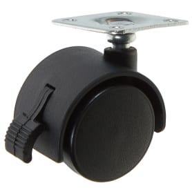 Колесо Boyard N103BL, 40 мм поворотное с тормозом