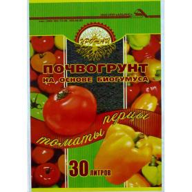 Почвогрунт для перцев и томатов «Урожай» 30 л