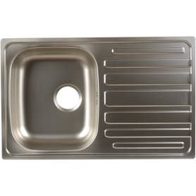 Мойка врезная Scala 45 49х78 см цвет матовый хром, нержавеющая сталь