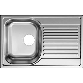 Мойка врезная Blanco Tipo 45 compact 78х50 см, нержавеющая сталь, цвет матовая сталь