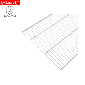 Полка сетчатая Larvij 603х406 мм цвет белый