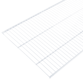 Полка сетчатая Larvij 1203х406 мм цвет белый