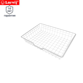 Корзина сетчатая Larvij 588х424х100 мм цвет белый