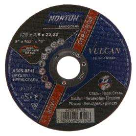 Круг отрезной по металлу Norton, тип 41, 125x2.5x22.2 мм