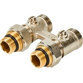 """Клапан для радиатора запорный прямой Н-образный РОСТерм для двухтрубной системы отопления, 1/2"""""""